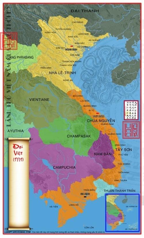 Lãnh thổ Việt Nam vào năm 1771