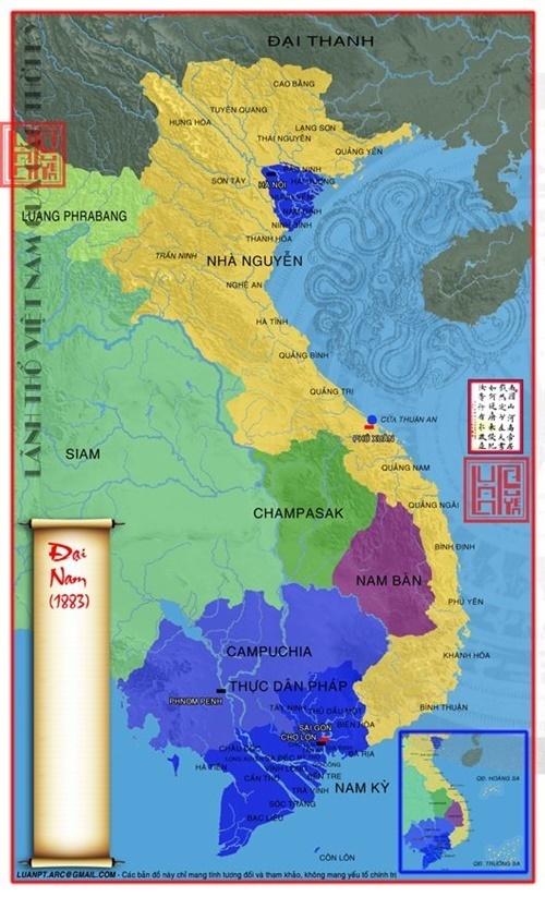 Lãnh thổ Việt Nam sau hòa ước Quý Mùi, 1883