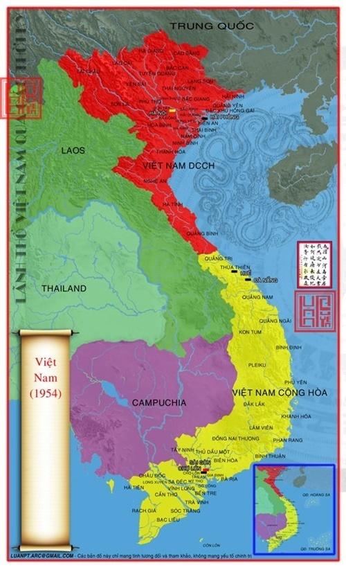 bản đồ lãnh thổ Việt Nam qua các thời kỳ 70