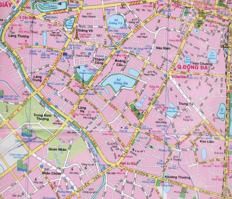 Bản đồ du lịch Hà Nội - Quận Đống Đa