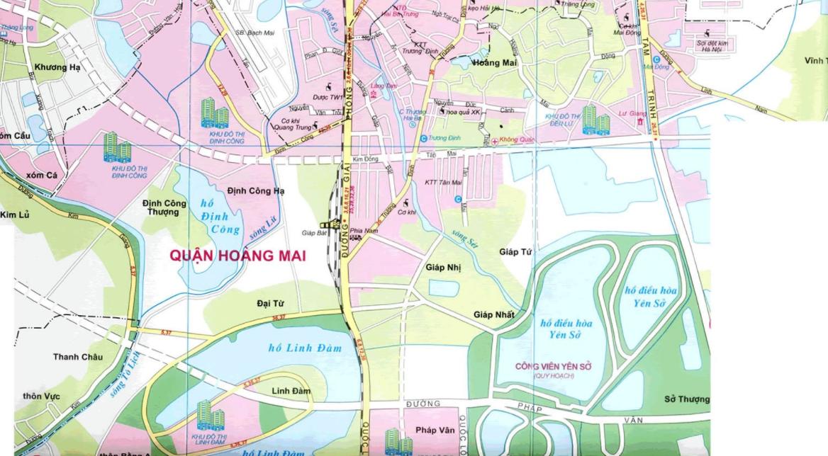 Bản đồ du lịch Hà Nội - Quận Hoàng Mai