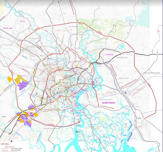 Bản đồ quy hoạch mạng lưới giao thông đường sắt - đường bộ - đường thủy