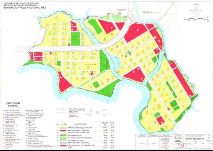 Bản đồ quy hoạch sử dụng đất khu A Nam TPHCM